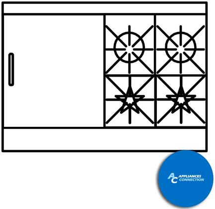 """Southbend 4484AC2T Ultimate Range Series 48"""" Gas Range with Two Front Star/Saute Burners, Two Rear Non-Clog Burners, and One 24"""" Thermostatic Griddle, Up to 180000 BTUs (NG)/144000 BTUs (LP), Convection Oven and Cabinet Base"""