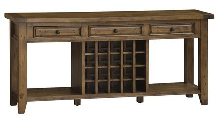 Hillsdale Furniture 891W Tuscan Retreat Sideboard with 20 Bottle Wine Storage, 3 Drawers, Lower Shelves and Solid Pine Timber Construction in