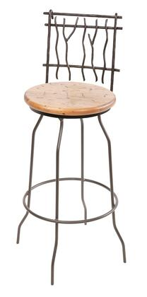 Stone County Ironworks 902775WOODWAL Sassafras Series  Bar Stool