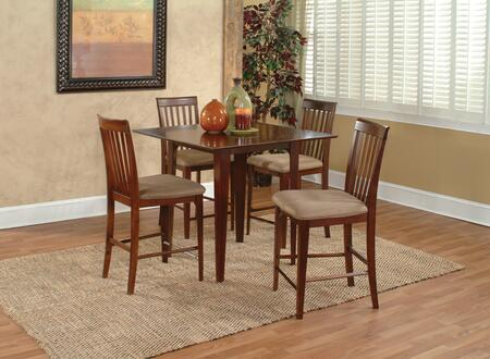 Atlantic Furniture MONTREAL3660STPT Montreal Collection 36x60 Solid Top Pub Height Dining Table: