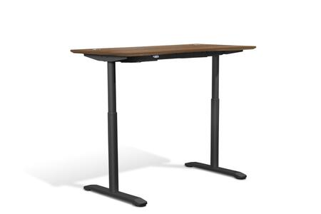 """Unique Furniture Sit Stand Collection 55"""" Electric Desk with Adjustable Height, Silent Motor, Levelers, Vacuumed Sealed MDF Materials and Open Grain Finish in"""