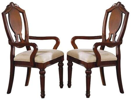 Acme Furniture 11834 Classique Series Traditional Fabric Wood Frame Dining Room Chair