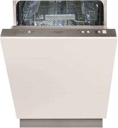 "Fulgor Milano F6xDW24 24"" 600 Series Fully Integrated Dishwasher with 13 Place Settings, 50 dbA Noise Level, 24"" Tall Tube, 9 Wash Cycles and Stainless Steel Interior and Exterior with"