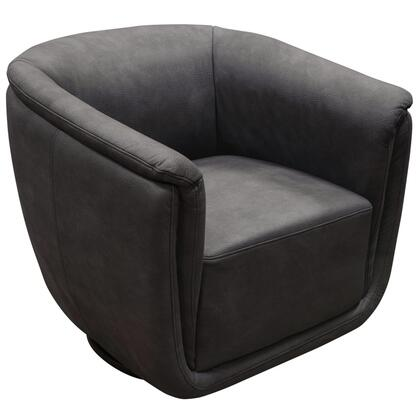 Diamond Sofa Logan LOGANCHXX Swivel Accent Chair with Soft-Touch Fabric Cover, Contoured Seat Design and 360 Degree Swivel in Anthracite Finish