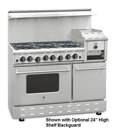 """BlueStar RNB486GHCV2X Heritage Classic 48"""" Freestanding Gas Range with 6 Cast Iron Open Burners, Convection Large Oven, Raised 12"""" Griddle, Simmer Burner, Full Motion Grates and Drip Trays"""