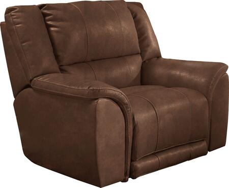 """Catnapper Carmine Collection 4150-7- 54"""" Power Lay Flat Recliner with Bonded Leather Upholstery, Luggage Stitching and Split Back in"""