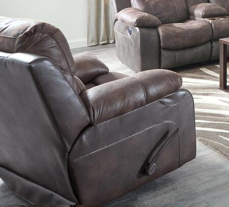 "Catnapper Henderson Collection 43"" Recliner with Bucket Seat Design, Steel Seat Box, Coil Seating Comfor-Gel and Two-Tone Fabric Combination Upholstery"