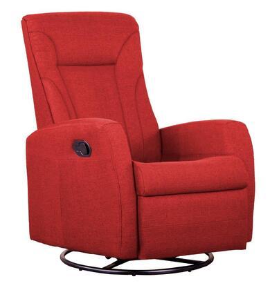 Dezmo D88598MLR Push Button Recline, Glider and Swivel, Arm Chair in Micro-Fiber Fabric