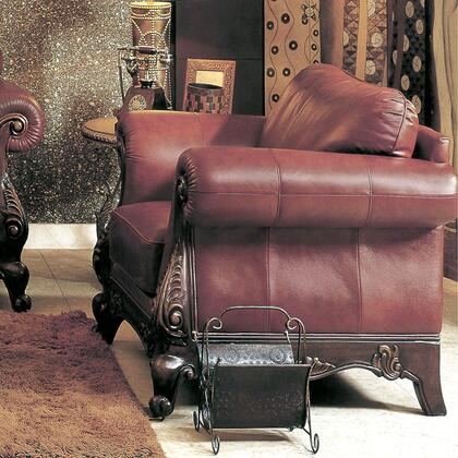 Yuan Tai CH1086C Charlie Series Leather Chair with Wood Frame