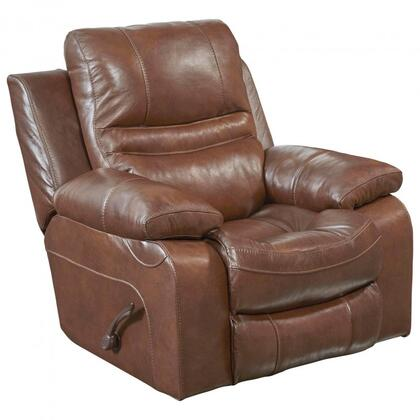 """Catnapper Patton Collection 43"""" Recliner with Automobile Seat Design, Decorative Luggage Stitching and Top Grain Genuine Italian Leather Upholstery"""