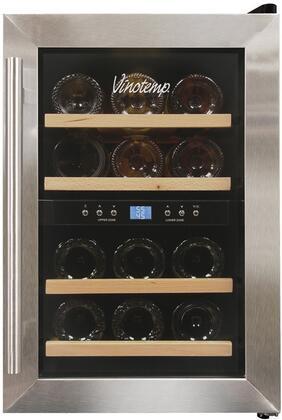 "Vinotemp VT12TEDS2Z 11.88"" Freestanding Wine Cooler"
