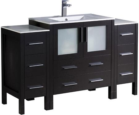 "Fresca FCB62123012XXX Torino 54"" Modern Bathroom Vanity with Top and Vessel Sink"