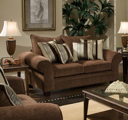Chelsea Home Furniture 1837023950 Clearlake Series Fabric Stationary with Wood Frame Loveseat