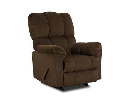 Chelsea Home Furniture 1893204171 Michigan Series Transitional Top Hat Chocolate Wood Frame  Recliners