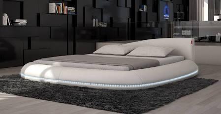 VIG Furniture VGINCERCHIO Modrest Cerchio - Modern Eco-Leather Bed with LED Lights