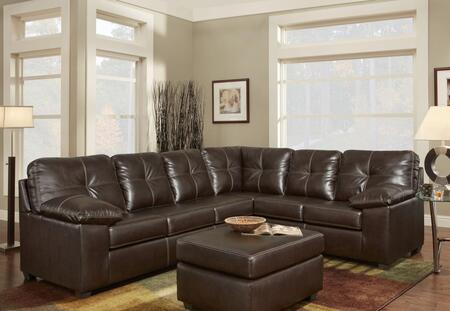 Chelsea Home Furniture 474400SECTC Tamera Series Stationary Bonded Leather Sofa