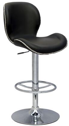Chintaly 0315AS Residential Bonded Leather Upholstered Bar Stool