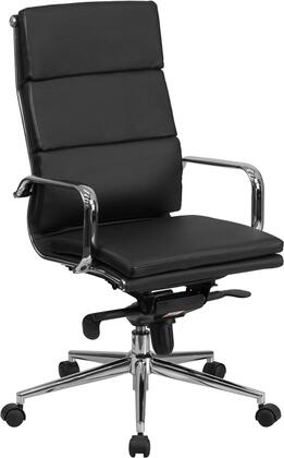 Flash Furniture BT9895H6GG High Back Leather Executive Swivel Office Chair with Synchro-Tilt Mechanism