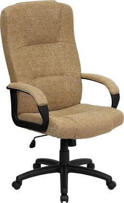"Flash Furniture BT-9022-XX-GG 19.75"" High Back Fabric Executive Office Chair with Plush Patterned Fabric Upholstery, Contoured Seat and Back, and Pneumatic Seat Height Adjustment"