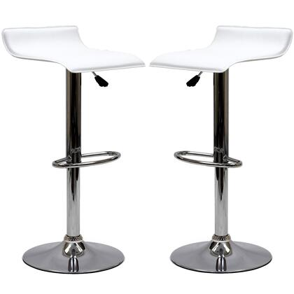 Modway EEI937WHI Gloria Series Residential Faux Leather Upholstered Bar Stool