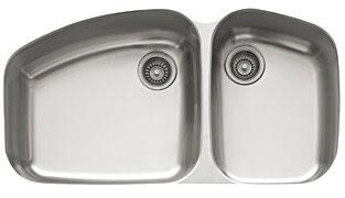 Franke VNX120 Vision Series Undermount Double Bowl Sink in Stainless Steel