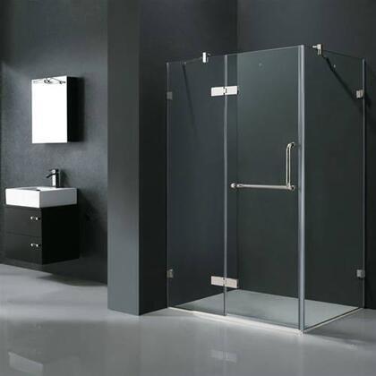 """Vigo VG6011XXCL48 32"""" x 48"""" Frameless 3/8"""" Shower Enclosure:"""