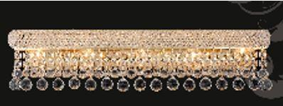 """J & P Crystal Lighting Bangle Collection SP180036W 36"""" Wide Wall Light in X Finish"""