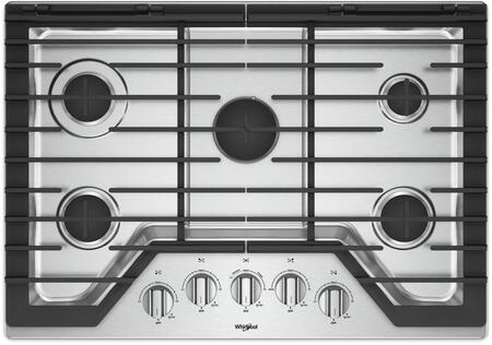 Whirlpool Wcg97us0hs 30 Inch 5 Burner Gas Cooktop With Ez