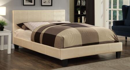 Furniture of America CM7793WHCKBED Wallen Series  California King Size Panel Bed