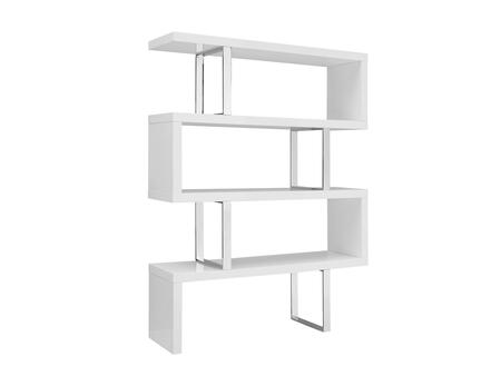 Casabianca TC0074WH Scala Series Wood and Metal 2-3 Shelves Bookcase