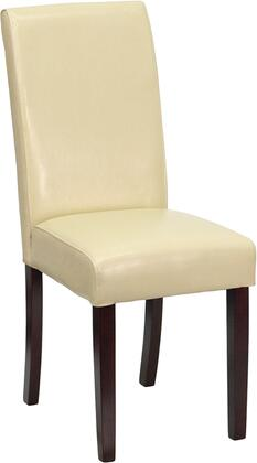 Flash Furniture BT350IVORY050GG Contemporary Leather Wood Frame Dining Room Chair