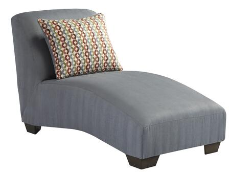 Signature Design by Ashley 9580X15 Hannin Chaise with 1 Colorful Toss Pillow, Rich Finished Tapered Legs and Textured Fabric Upholstery in