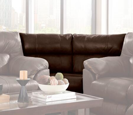 Catnapper 4348128309308309128329 Milan Series Leather Sectional with Metal Frame in Chocolate