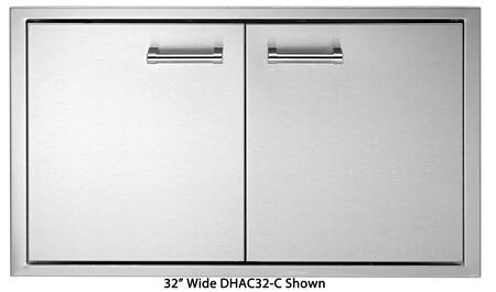 Delta Heat DHADXX-C Double Access Doors with 304 Stainless Steel Construction, One-piece 18 Gauge Frame, and Adjustable European Hinges, in Stainless Steel
