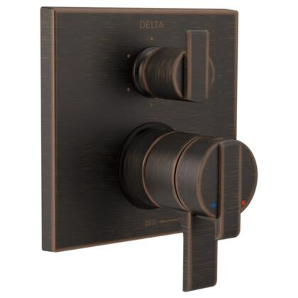 Ara T27967-RB Delta Ara: Angular Modern Monitor 17 Series Valve Trim with 6-Setting Integrated Diverter in Venetian Bronze