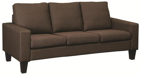 "Coaster Bachman 74.5"" Sofa with Track Arms, Tapered Wood Legs and Fabric Upholstery in"