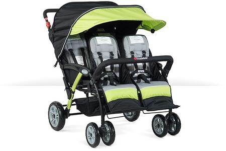 """Foundations Sport Splash Collection 4141XXX 49"""" 4-Passenger Stroller with Ergonomic Handle, Canopy and Rubberized Foam Wheels"""