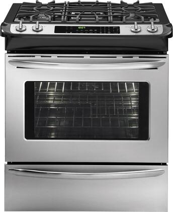"Frigidaire FGGS3065KF 30"" Gallery Series Slide-in Gas Range with Sealed Burner Cooktop Warming 4.2 cu. ft. Primary Oven Capacity"