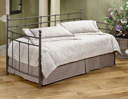 Hillsdale Furniture 380D Providence Daybed with Suspension Deck, Ball Finials, Bow Shaped Arms and Cast Metal Construction in Antique Bronze Color