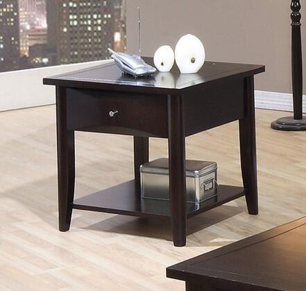 Coaster 700967 Whitehall Series Contemporary Wood Square 1 Drawers End Table