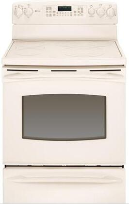 GE PB915TTCC Profile Series Electric Freestanding Range with Smoothtop Cooktop, 5.3 cu. ft. Primary Oven Capacity, Warming in Bisque