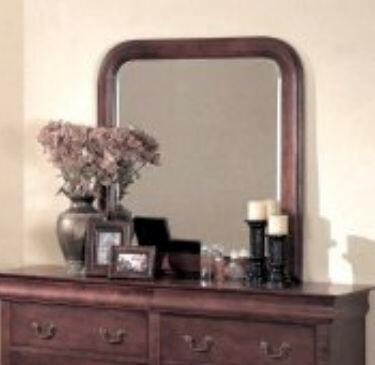 Yuan Tai 4706M Louis Philippe Series Rounded Portrait Dresser Mirror