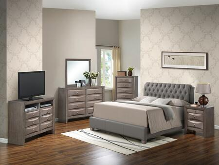Glory Furniture G1505CKBUPCHDMNTV2 G1505 King Bedroom Sets