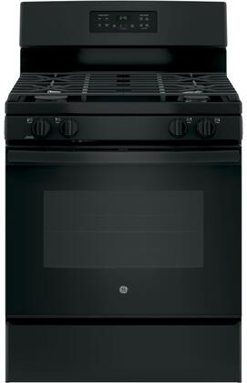 """GE JGB645DEK 30"""" Freestanding Gas Range with 5 Cu. Ft. Oven Capacity, Precise Simmer Burner, Electronic Touchpad, Self-Clean Oven, 4 Sealed Burners, and Sabbath Mode:"""