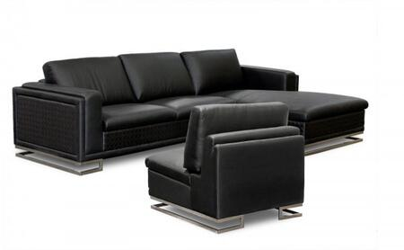Diamond Sofa BLVDRFSECT3PCW Traditional Bonded Leather Living Room Set