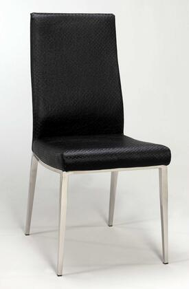 Chintaly JAMILASC Vera Series Modern Leather Metal Frame Dining Room Chair