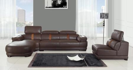Chintaly OKLAHOMA3PIECESECTIONAL Oklahoma Living Room Sets