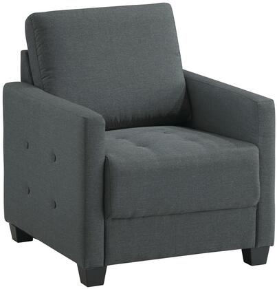Glory Furniture G778C Fabric Armchair in Charcoal