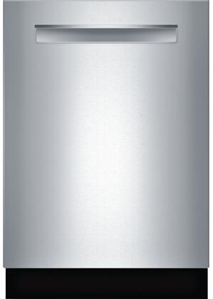 """Bosch SHXM98W7XN 24"""" 800 Series Handle Dishwasher with 39 dBA Noise Level, 3rd Rack, 6 Wash Cycles, and Sanitize Option, in"""