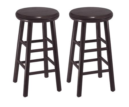 Winsome 9279X Set of 2 Swivel Kitchen Stool, Assembled